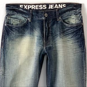 Express Jeans - EXPRESS LOW RISE BOOT CUT KINGSTON JEANS 32 X 34